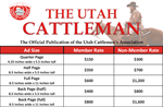 Utah Cattleman Rate Sheet